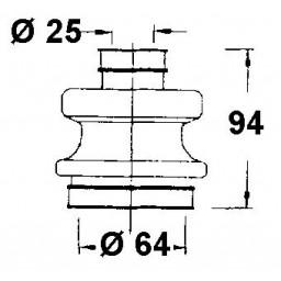 Vetoakselin suojakumisarja ulompi/sisempi W107,114,115,123,126 Tarvike