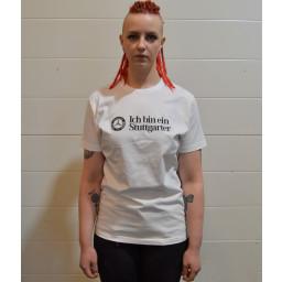 T-paita valkea Ich bin ein Stuttgarter